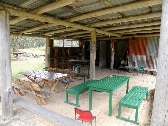 mount royal bunkhouse covered eating area